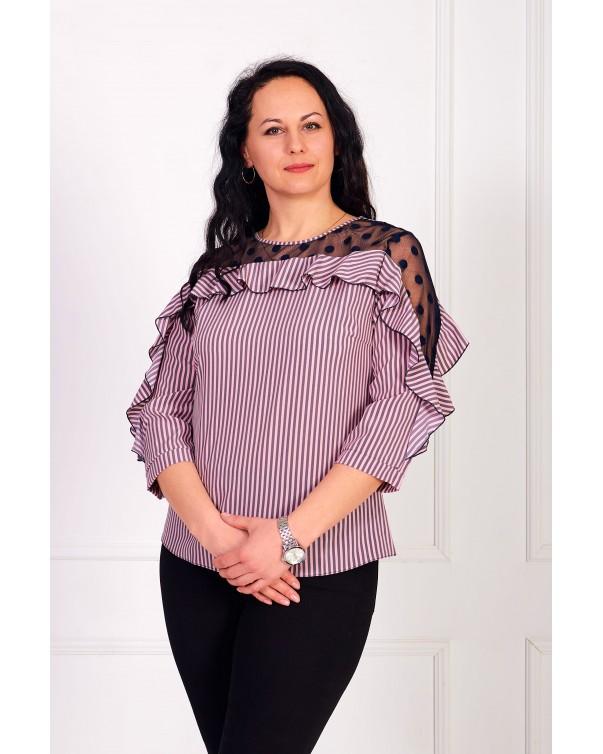Женская блуза iDial style кокетка 080