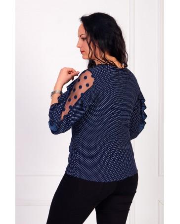 Женская блуза iDial style синяя 509/1