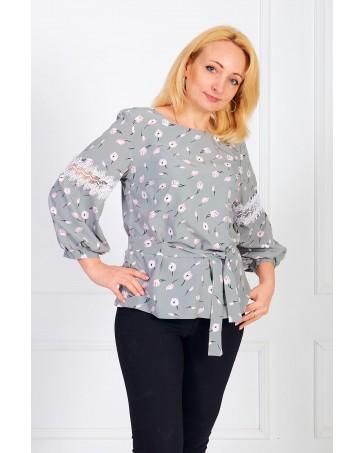 Женская блуза iDial style серая 0819