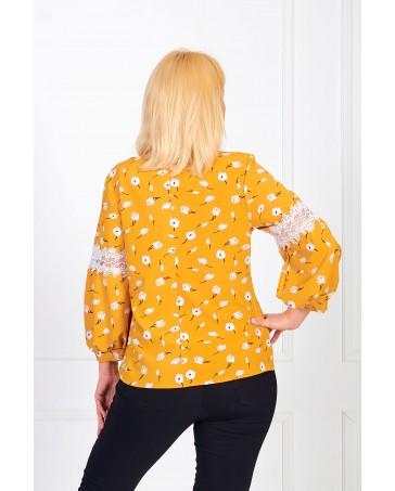 Женская блуза iDial style желтая 0819