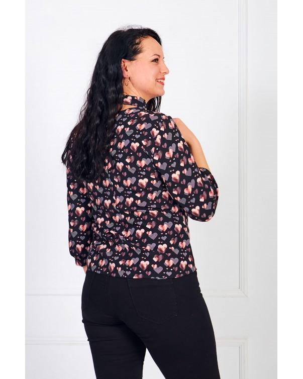 Женская блуза iDial style сердце 0821