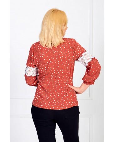 Женская блуза iDial style красная 0819