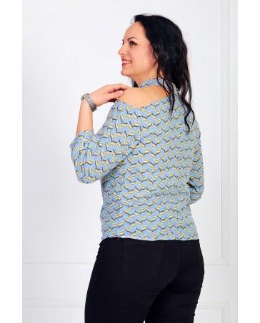 Женская блуза iDial style голубая 0821