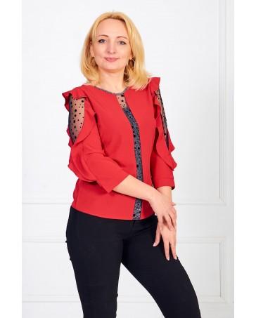 Женская блуза iDial style красная 0508