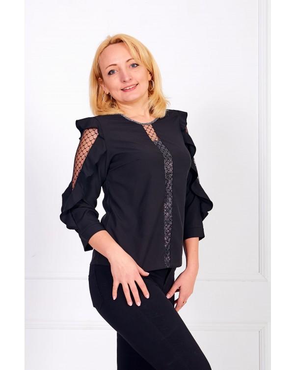 Женская блуза iDial style черная 0508