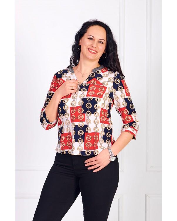 Женская блуза iDial style с принтом 0784
