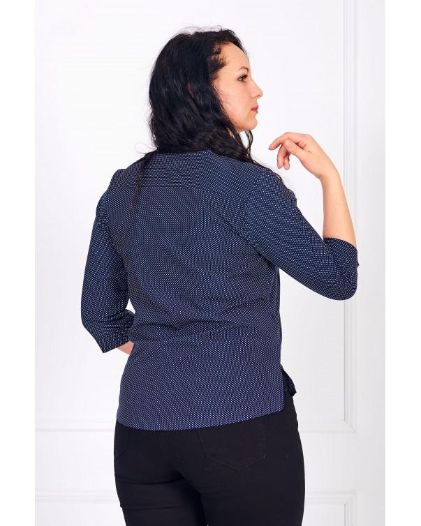 Женская блуза iDial style с замком синяя 0784