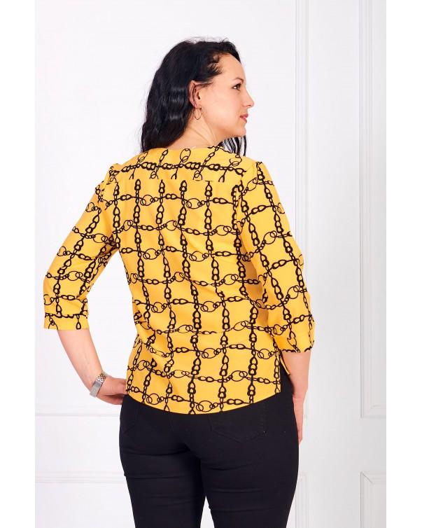 Женская блуза iDial style желтая 0784