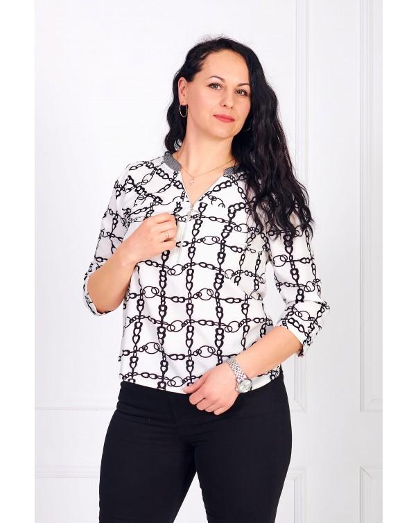 Женская блуза iDial style принт цепи 0784