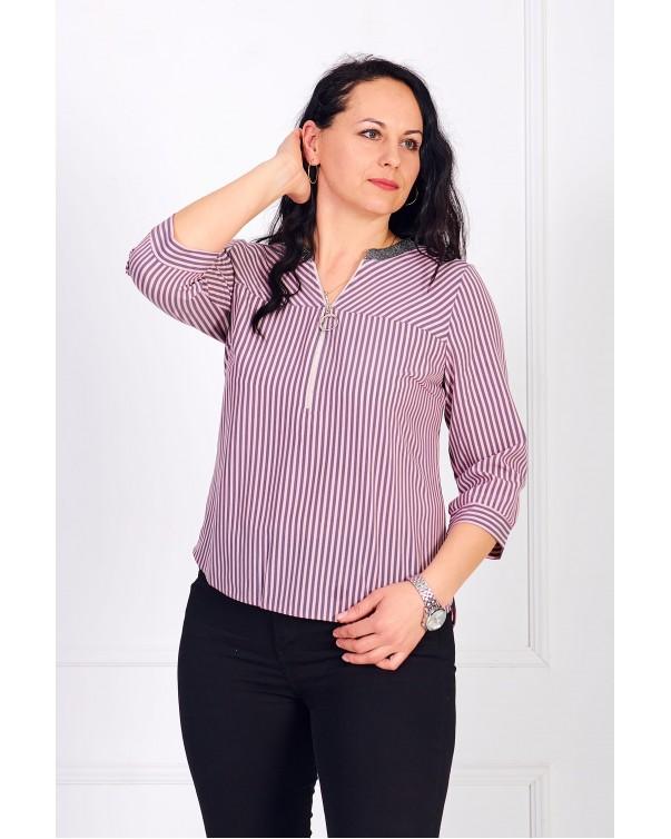 Женская блуза iDial style с замком в полоску 0784