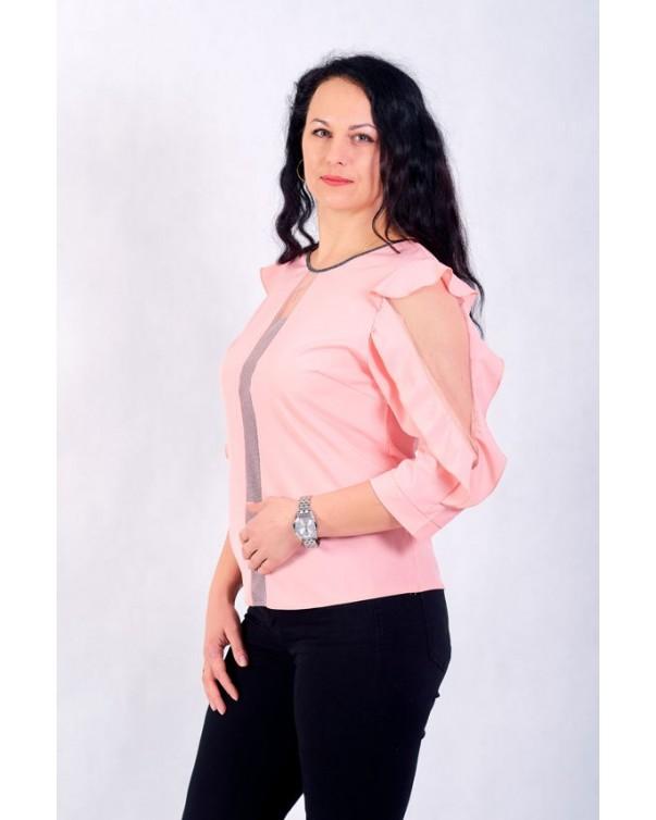 Женская блуза iDial style розовая 0508
