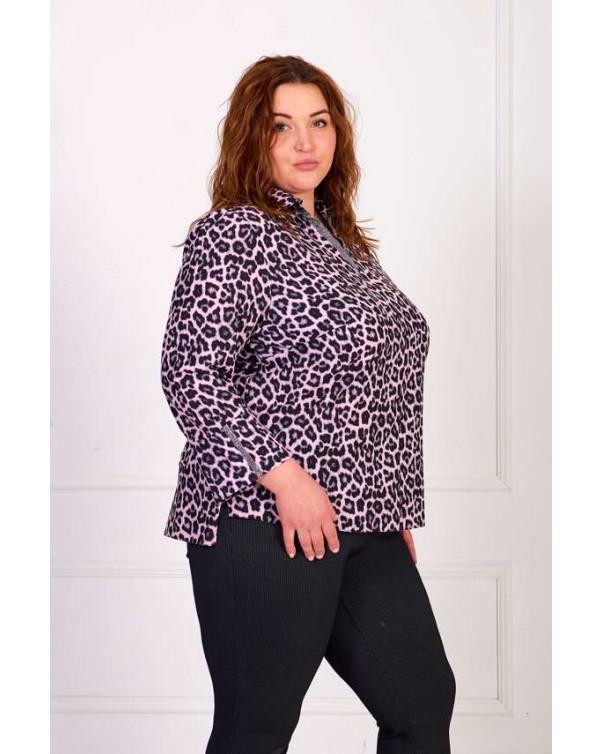 Женская блуза iDial style леопард 0801