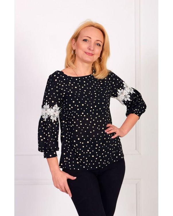 Женская блуза iDial style со вставкой 0819