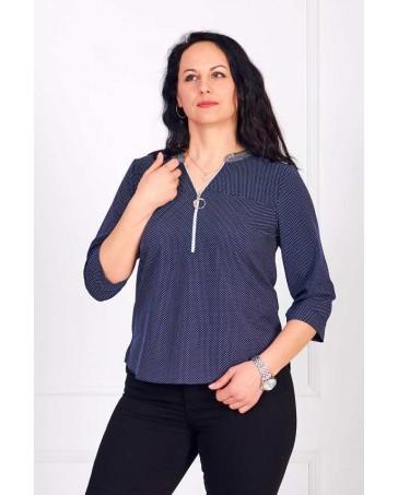 Женская блуза iDial style синяя 0784