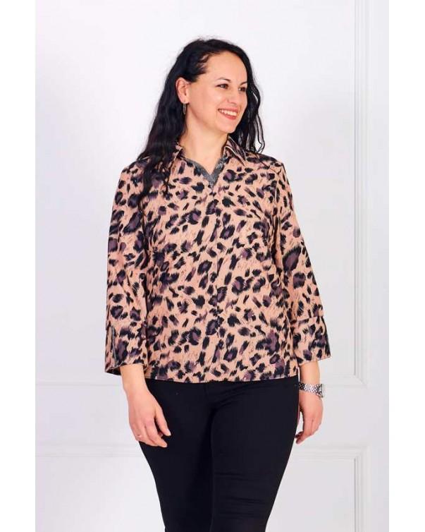 Женская блуза iDial style леопардовая 0801