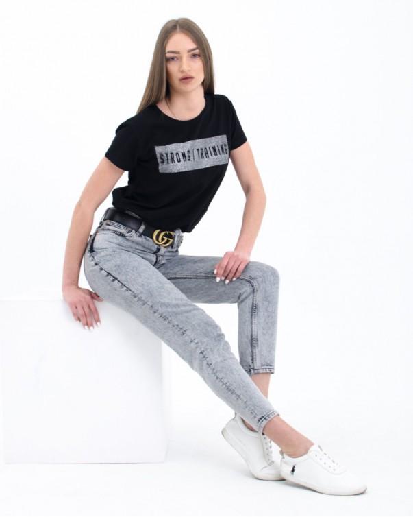 Женская футболка iDial style black 005