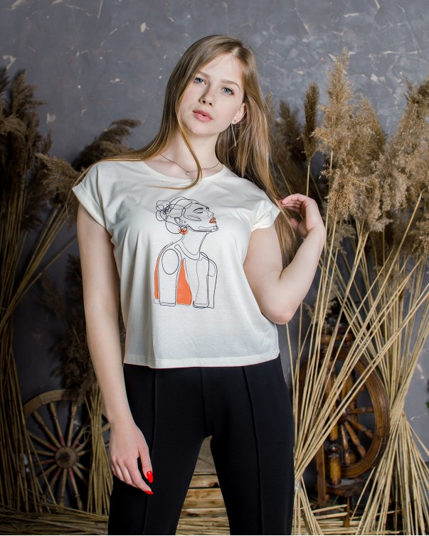 Женская футболка iDial style girl 0418
