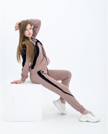 Спортивный костюм iDial style  пудра 0413