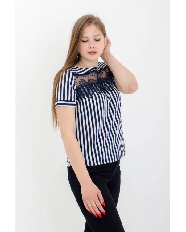 Женская футболка с кружевом iDial style 507