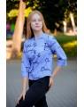 Блуза женская  iDial style голубая 1