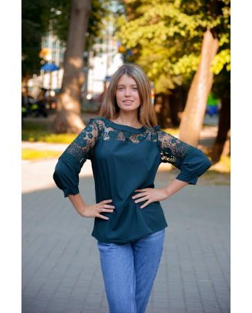 Блуза женская  iDial style зеленая 527