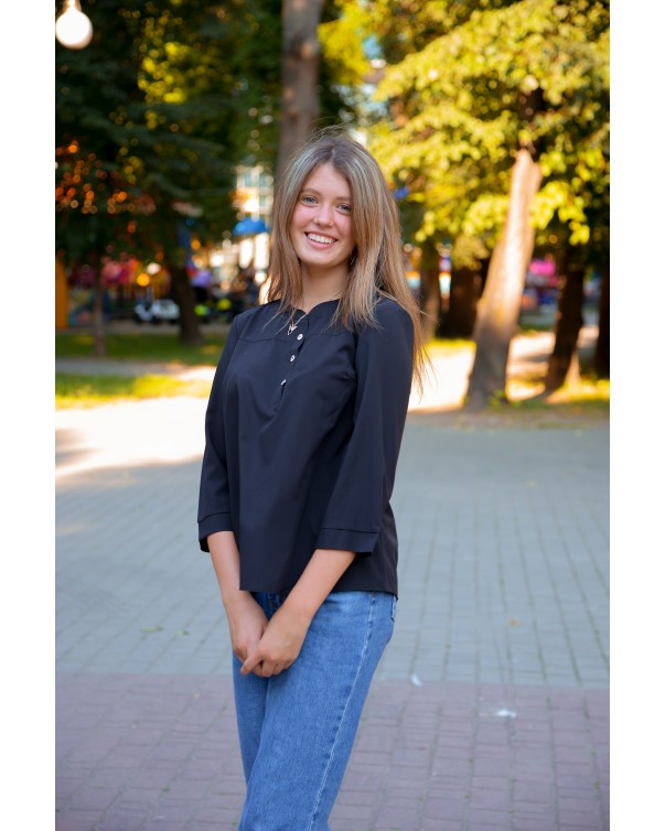 Женская блуза iDial style черная 777