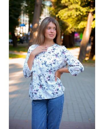 Женская блуза iDial style цветочный принт
