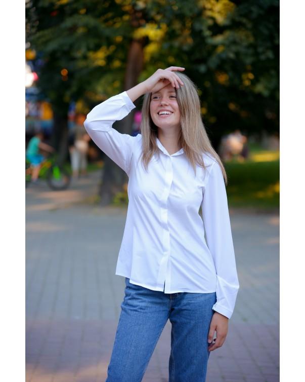 Женская блуза iDial style белая 181