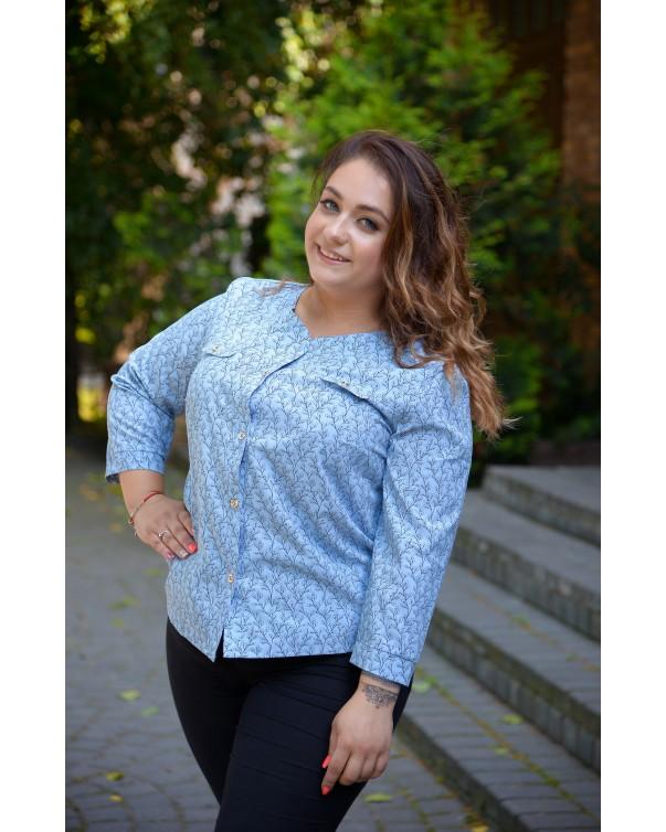 Блуза женская  iDial style голубая 795