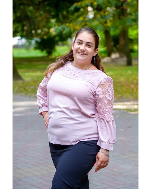Женская блуза 530 iDial style роза батал