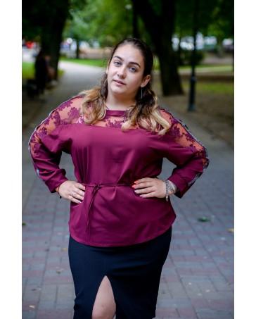 Женская блуза 524 iDial style бордо батал