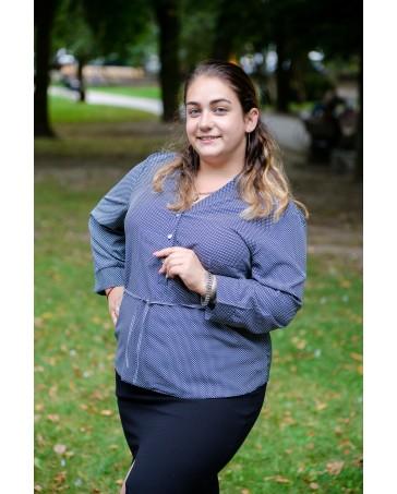 Женская блуза 523 iDial style серая