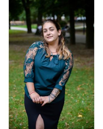 Женская блуза 528 iDial style зеленая