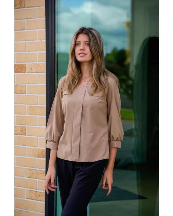 Женская блуза 799 iDial style кофейная