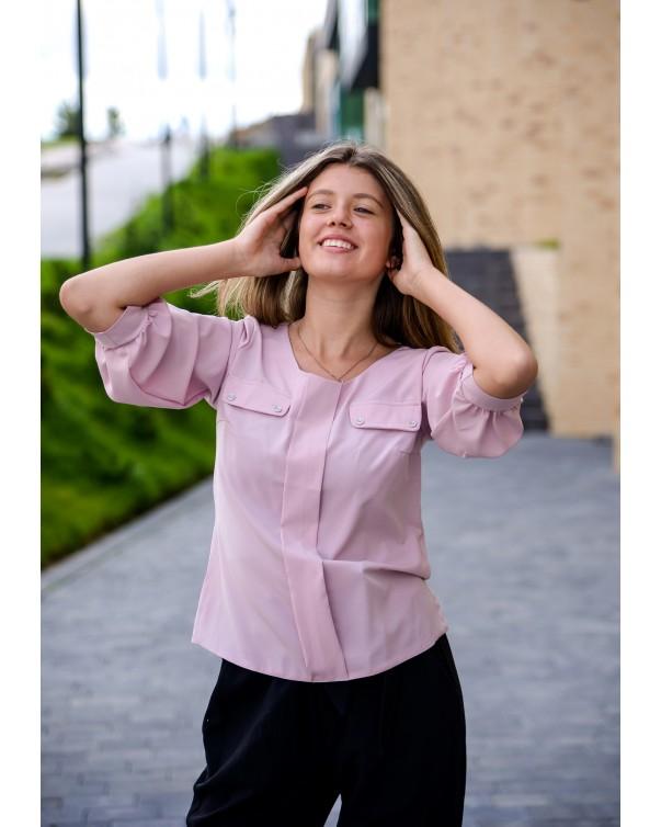Женская блуза 799 iDial style розовая