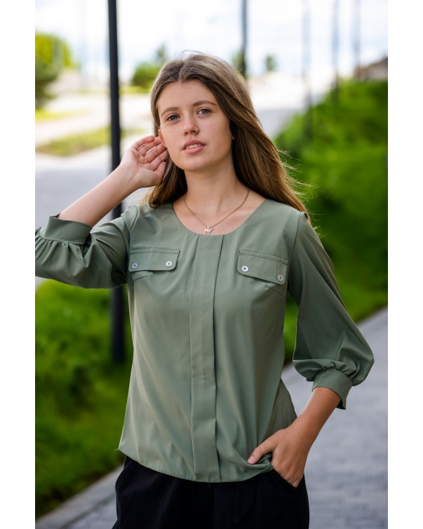 Женская блуза 799 iDial style зеленая