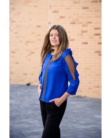 Женская блуза 508 iDial style синяя