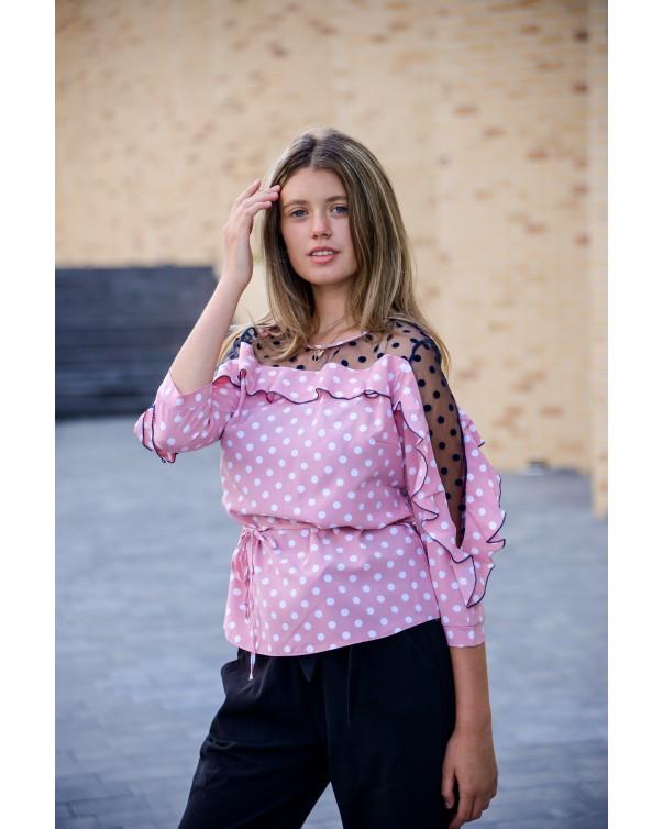 Женская блуза iDial style розовая 509/1