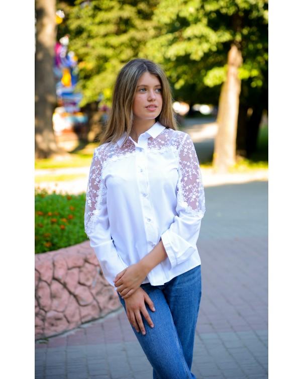 Женская блуза iDial style школьная 1187