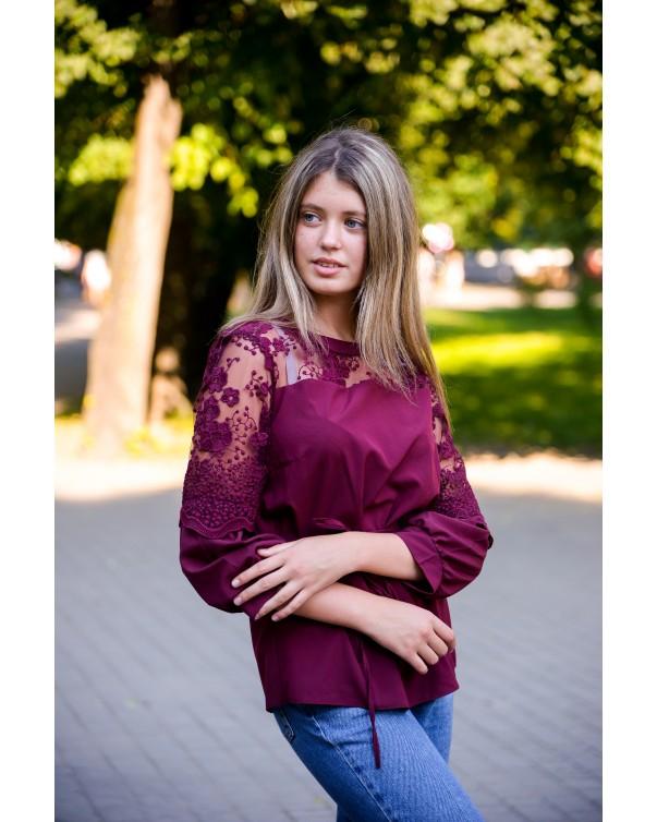 Блуза женская  iDial style бордо 527