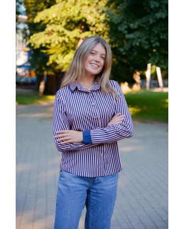 Женская блуза iDial style в полоску 555 – покупай оптом и в розницу в магазине | IDial Style