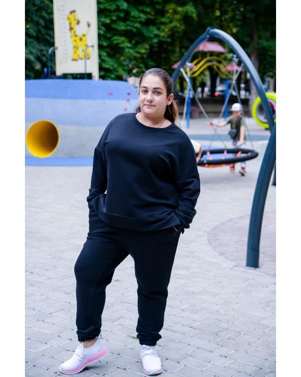 Спортивный костюм черный iDial style 427 батал