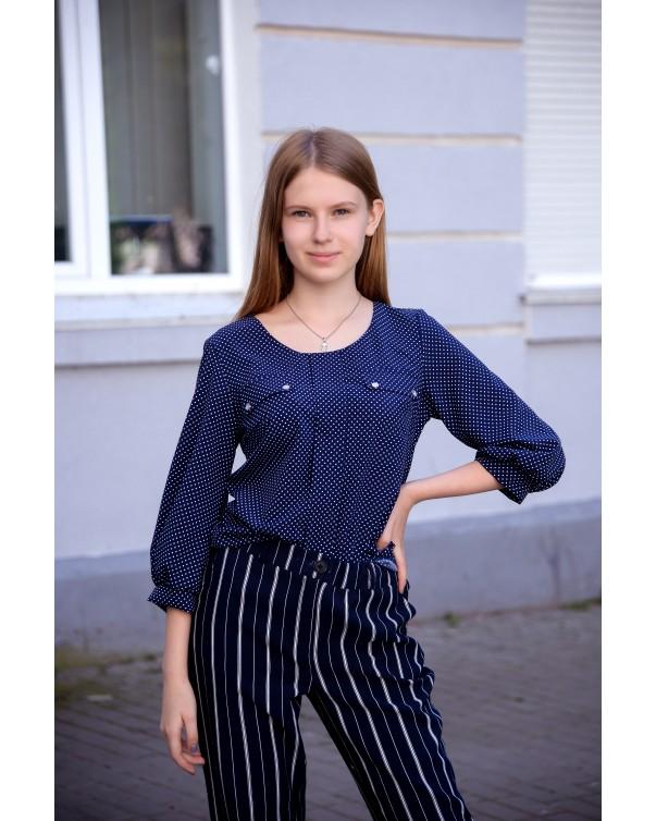 Блуза женская iDial style 799 синяя