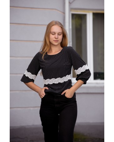 Блуза женская iDial style 825/1 черная