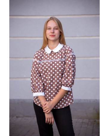Женская блуза iDial style коричневая 789