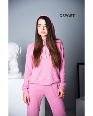 Спортивный костюм idial style вязка розовый 406-1