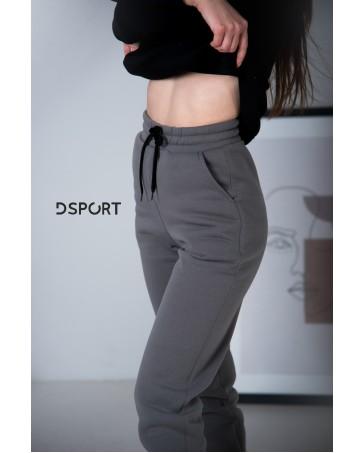 Женские штаны idial style 429 серые на флисе