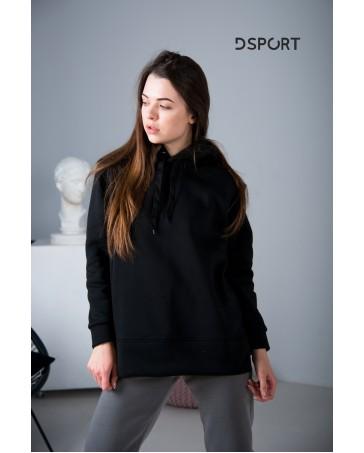 Худи 432 iDial style черный на флисе