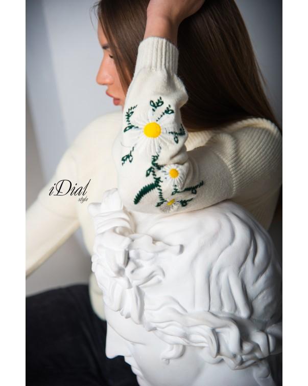 Женская кофта 1100  iDial style  молочная ромашка
