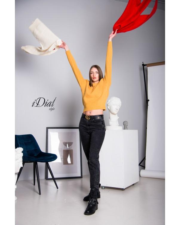 Женская кофта 111 iDial style желтая кашемир
